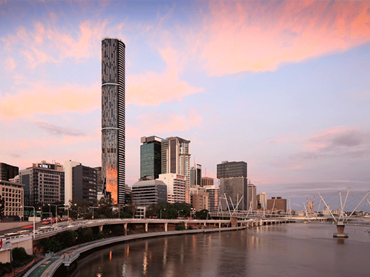 At 249 metres to its architectural tip, Infinity Tower is currently the tallest tower in Brisbane and the eight tallest in Australia.