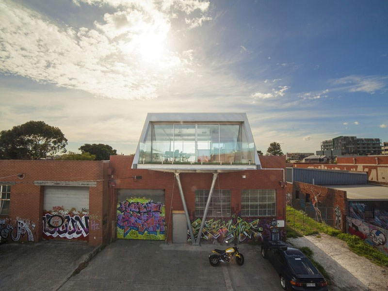 The 'tea room' hovering over an old Melbourne factory