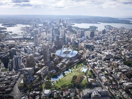 Bates Smart's plan for a new stadium in the heart of Sydney