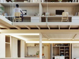 Apartment prototype allows residents to customise their space