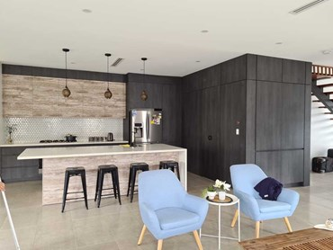 Syncron decorative panels in Sydney luxury kitchen project
