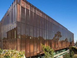 Glazed curtain walls with SEFAR fabric installed at University of Sydney building