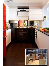 Leading interior designer's kitchen features ARC Bamboo Java floor