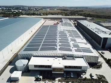 Rooftop photovoltaic system at Kingspan's Somerton facility
