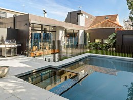 Anston pool coping used to stunning effect in Elwood home