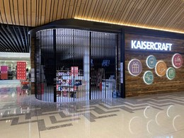 ATDC's curved security shutters impress at Kaisercraft Robina QLD store