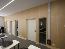 Perforated plywood reduces noise at new school multipurpose centre