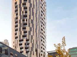 Vitrastone natural stone cladding impresses on Melbourne's Kings Domain Apartments