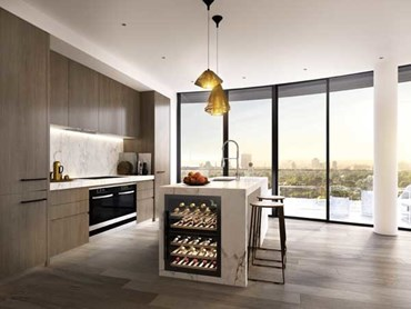Shannon Bennett's signature kitchen design for the Malvern apartments