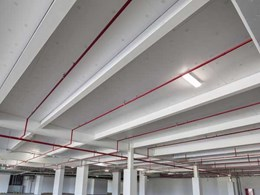 Kingspan Kooltherm soffit board specified for Crown Towers Perth carpark