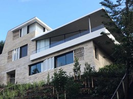 Krause Emperor bricks stand out in Point Piper home's natural palette