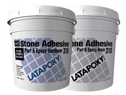 Laticrete's LATAPOXY 310 stone adhesive for interiors and exteriors