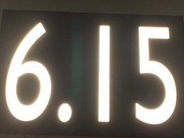 LED number signs fabricated with Perspex for Sydney apartments