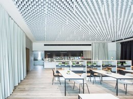 Feature ceilings create harmonious look at EWS Schoenau's sustainable HQ
