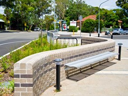 Steel balustrading and seating fabricated for Lane Cove renewal project