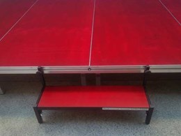 Select Concepts' custom designed portable step units in great demand