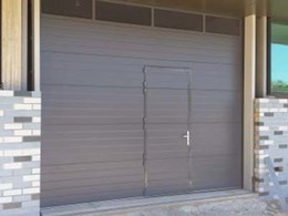 Leda installs insulated panel door with pedestrian door access for Ballarat university building