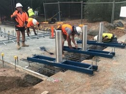 Semi automatic retractable bollards installed at National Jewish Centre, Canberra