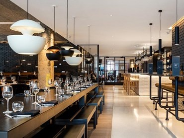 Leicester Square Kitchen uses Mondéco Rapide in and around the restaurant's central bar area