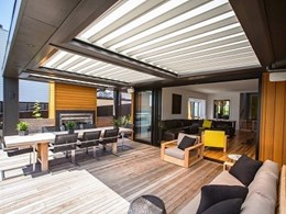 Enhance natural light in your outdoor area with Louvretec's translucent opening roof