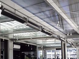 Celmec's electric radiant heaters installed at European style bar on Sydney waterfront