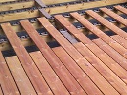 Using Clip JuAn with Lunawood thermowood saves decking build time