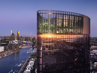 Voyager is a $300 million luxury residential tower in Melbourne