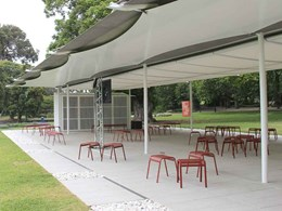 Reinforced Anston paving featured in Glenn Murcutt's 2019 MPavilion
