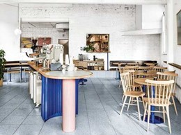 Techne selects Fibonacci Stone terrazzo tiles for Mammoth café flooring