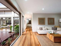 Big River's engineered hardwood flooring brings warmth to award-winning display home