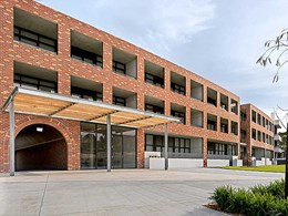 Stunning brick inlay facade welcomes residents at Martha Cove apartments