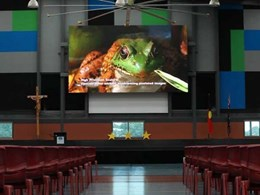 Ci's LED display screen delights staff and students at Marymede Catholic College