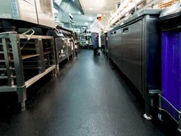Altro safety flooring delivers safety, comfort and easy cleaning benefits to Mayfair Hotel kitchen