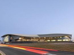 Kingspan roof system achieves double curved geometry at Melbourne Jet Base