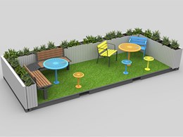 Street furniture for outdoor community spaces