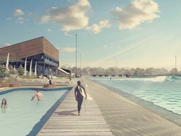An artist's impression of the Melbourne wave pool