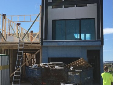 Tilling's timber portal bracing for the Melisi townhouse