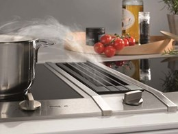 Miele CombiSets featuring a downdraught extractor at benchtop level