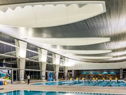 Aglo LED floodlights complement Monash Aquatic Centre's design
