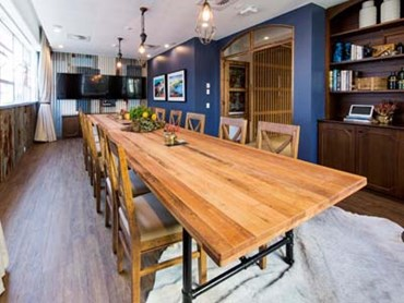 Montreal Oak LVT in Airbnb's Kangaroo Valley Cabin Boardroom