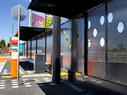 Shelter and safety barrier installed at Moorabbin bus interchange