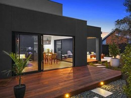 Carinya doors create light-filled living spaces in modern Mornington townhouse