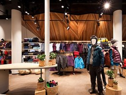 Aglo LED fittings light up outdoor gear store at Pacific Fair Shopping Centre, QLD