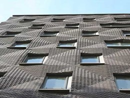 Rippled brick façade on New York apartment building turning heads