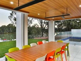 Murray River home featuring Heatstrip Classic heaters showcased on Australia's Best Homes