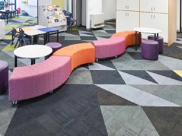 Dynamic carpet patterns and colours add playful touch to primary school