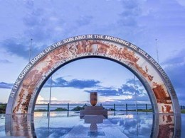 Ocean Beach Anzac Memorial features Cooling Brothers printed glass