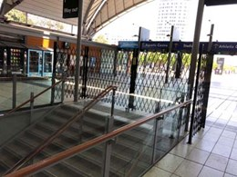 ATDC's pedestrian barriers keeping it safe at Olympic Park Railway Station