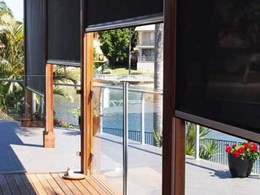 Outdoor privacy screens keeping external living spaces private, insulated and insect-free