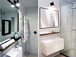 Mint basins and bespoke cabinets installed at boutique Melbourne hotel